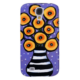 Yellow Poppies Galaxy S4 Covers