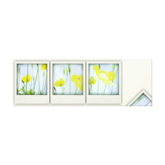 Yellow Poppies Modern Contemporary Canvas Print