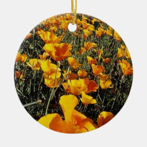 yellow Poppies, Organ Pipe Cactus National Monumen Christmas Tree Ornaments