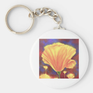 Yellow Poppies Painting Art - Multi Keychain