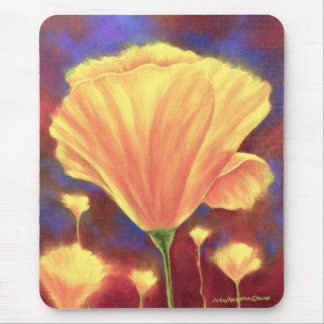 Yellow Poppies Painting Art - Multi Mouse Pad