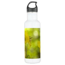 Yellow Poppies Photo Water Bottle