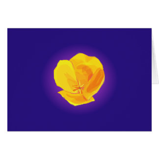 Yellow Poppy Card