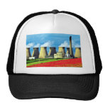 Yellow Poppy field and Ferrybridge power station, Mesh Hat