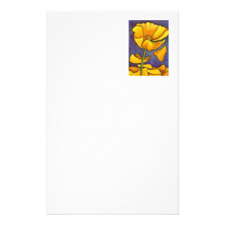 """""""Yellow Poppy"""" Floral Stationery"""