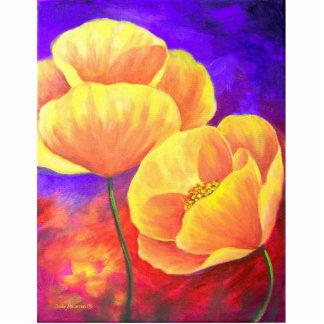 Yellow Poppy Flower Painting Art Photo Sculpture