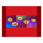 Yellow Poppy Flower Painting - Multi Poster