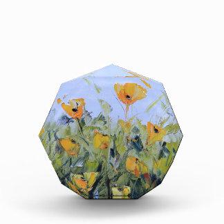 Yellow Poppy Garden Painting, Yellow Poppies, Art Award