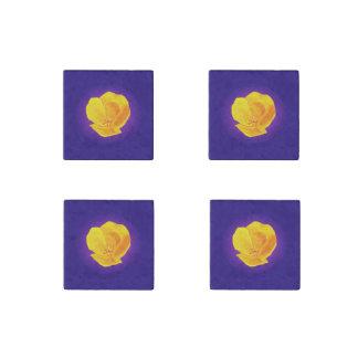 Yellow Poppy Stone Magnet
