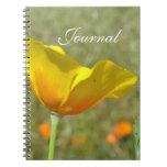Yellow Poppy Journal Notebook