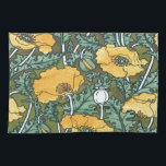 "Yellow Poppy Kitchen Towel<br><div class=""desc"">A pretty art nouveau  poppy design,  given a new lease of life,  and now available on many Zazzle products. If you can&#39;t see the one you want witht his design,  please ask,  we&#39;re so happy to help</div>"