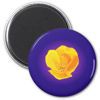 Yellow Poppy 2 Inch Round Magnet