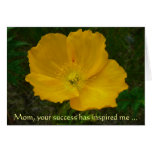 Yellow Poppy Mother's Day Card