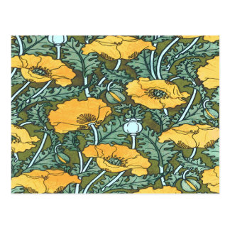 Yellow Poppy Postcard
