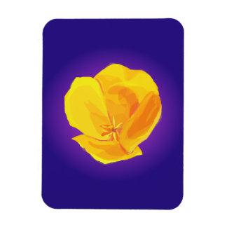 Yellow Poppy Rectangular Photo Magnet