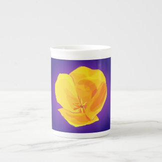 Yellow Poppy Tea Cup