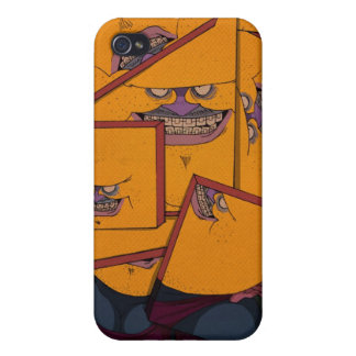 Yellow Portrait iPhone 4 Covers