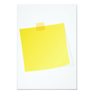 Yellow Post It Note Invitations