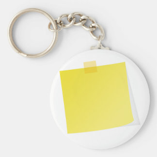 Yellow Post It Note Keychain