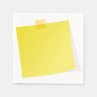 Yellow Post It Note Paper Napkins