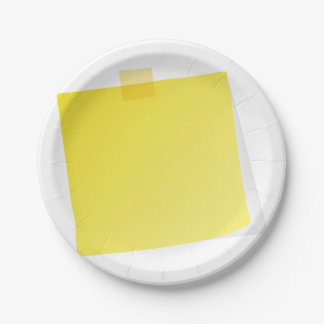 Yellow Post It Note Paper Plates