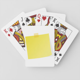 Yellow Post It Note Playing Cards