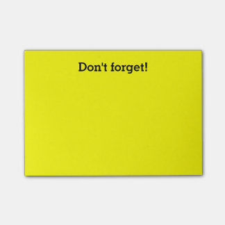 Yellow post-it notes   Custom office supplies