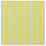 [ Thumbnail: Yellow & Powder Blue Colored Stripes Fabric ]