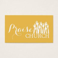Yellow Praise Church Religion Christian Pastor Business Card at Zazzle