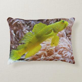 Yellow prawn-goby decorative pillow