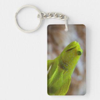 Yellow prawn-goby Double-Sided rectangular acrylic keychain