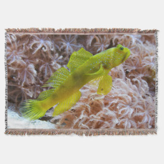 Yellow prawn-goby throw blanket