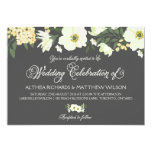 Yellow Pretty Anemones Floral Wedding IV Card