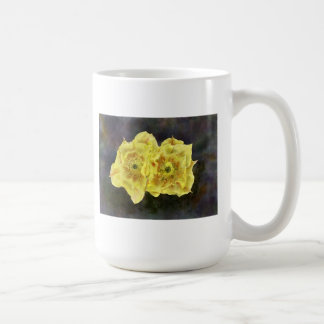 Yellow Prickley Pear Flowers Coffee Mugs