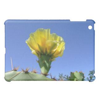 Yellow prickly pear cactus flower iPad mini case