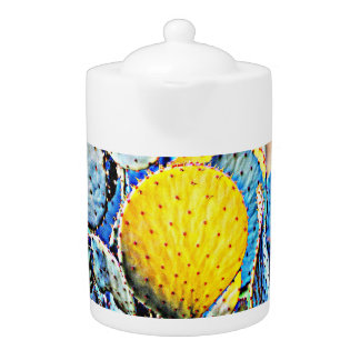 Yellow Prickly Pear Tea Pot