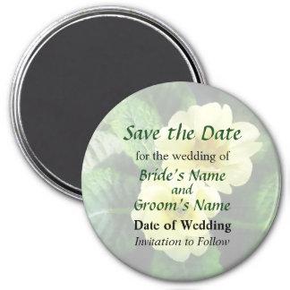 Yellow Primrose Closeup Save the Date Magnet