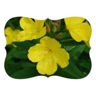 Yellow Primrose 5x7 Paper Invitation Card