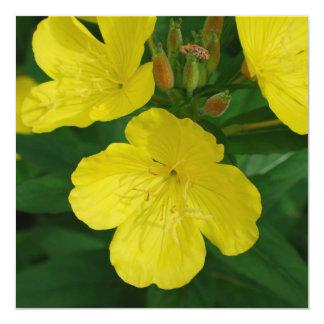 """Yellow Primrose Invitations 5.25"""" Square Invitation Card"""