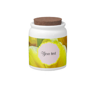 Yellow Primroses Candy Dish