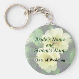 Yellow Primroses Closeup Wedding Products Keychain
