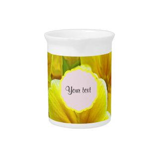 Yellow Primroses Drink Pitcher