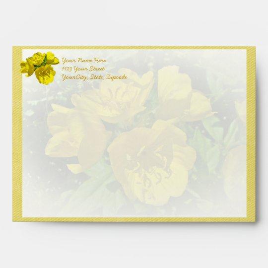 Yellow Primroses - Sundrops Envelope