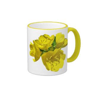 Yellow Primroses - Sundrops Ringer Mug