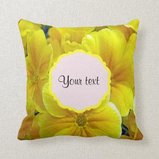 Yellow Primroses Throw Pillow