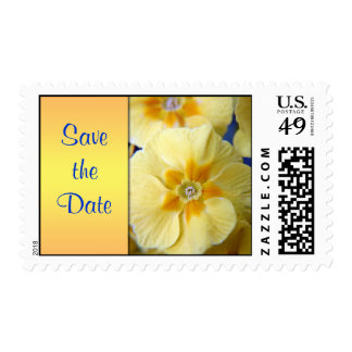 Yellow Primula Save the date postage