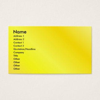 Yellow Profile Card