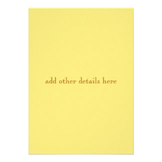 Yellow Progression Modern Wedding Invitation