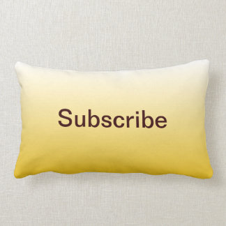 Yellow Promotional Subscribe Button Pillow