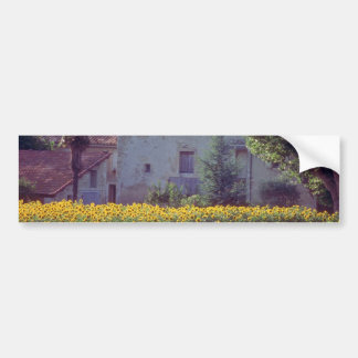 yellow Provencal mas near Carpentras in field of s Bumper Stickers